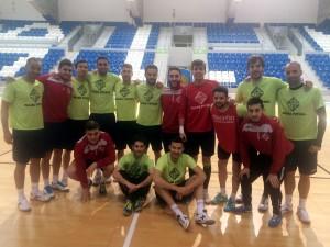 El Palma Futsal este viernes en el último entreno en Son Moix 1