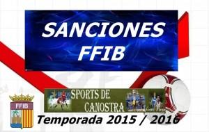 SANCIONES FFIB