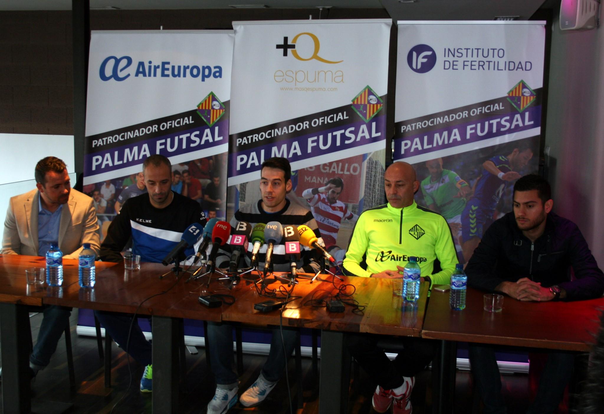 Presentación de la copa de España en Palma 2