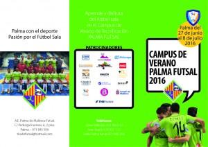 Tríptico del campus del Palma Futsal - Cara 1