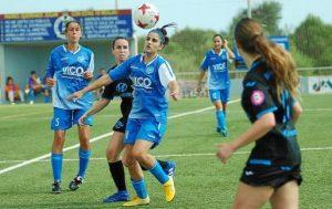 Estefa logró el gol que suponía el empate para el Sporting antes del descanso.
